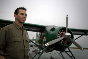 Brian Kraft with one of his DeHavilland Planes