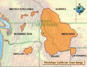 Map: Westslope Cutthroat Trout Range
