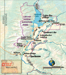 Map Detail of Jackson, Wyoming