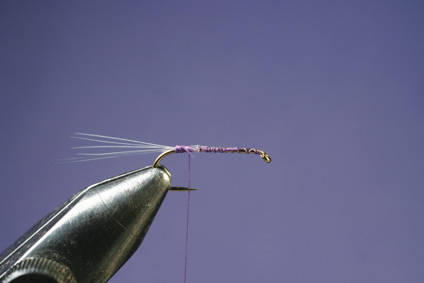 Splay microfibetts on Purple PFD Parawulff fly