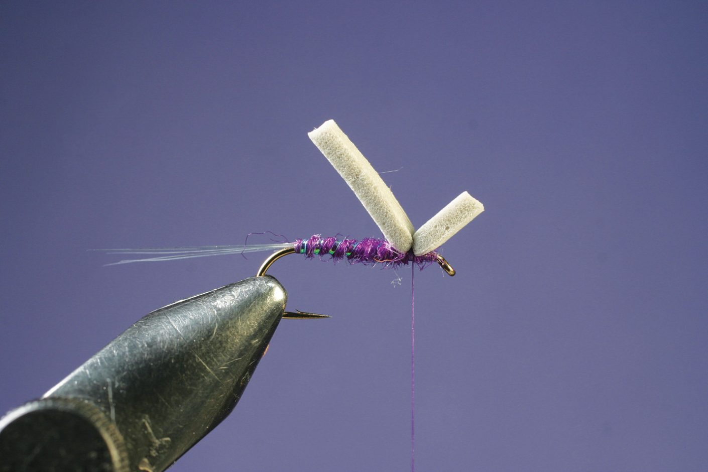 Add strip of foam to Purple PFD Parawulff fly