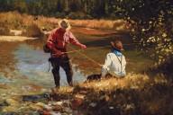 Shady Creek Oil Painting