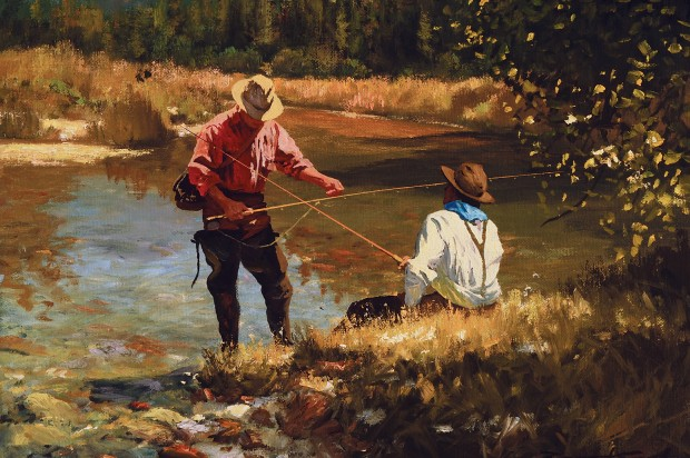 Shady Creek Oil Painting